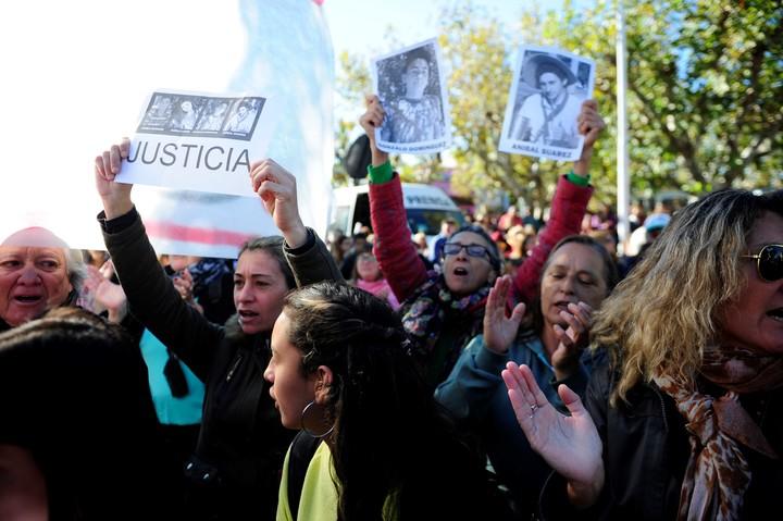Pedido de Justicia en San Miguel del Monte. Foto: Luciano Thieberger
