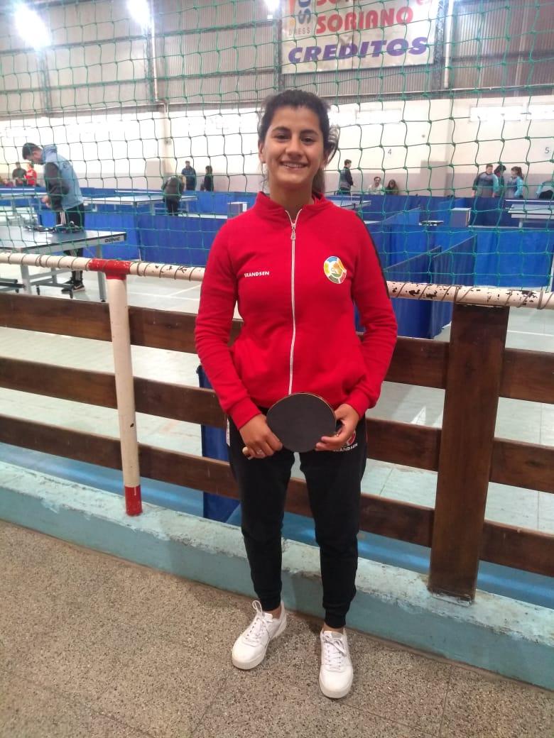 2° Día de competencia. María Chappo compitió a las 9hs. Saliendo victoriosa de su segundo partido 3 - 1